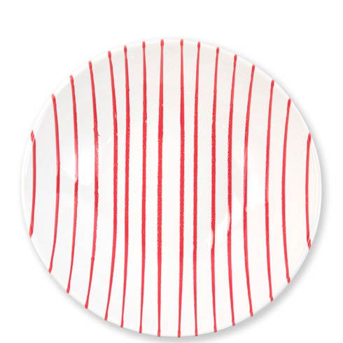 Vietri  Stripe Red Medium Serving Bowl $84.00