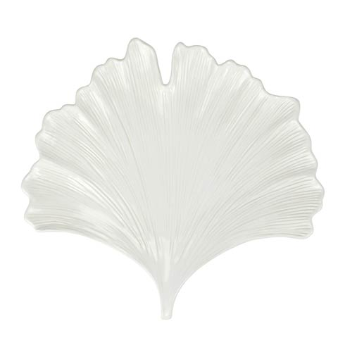 $114.00 Foliage White Ginkgo Leaf Platter