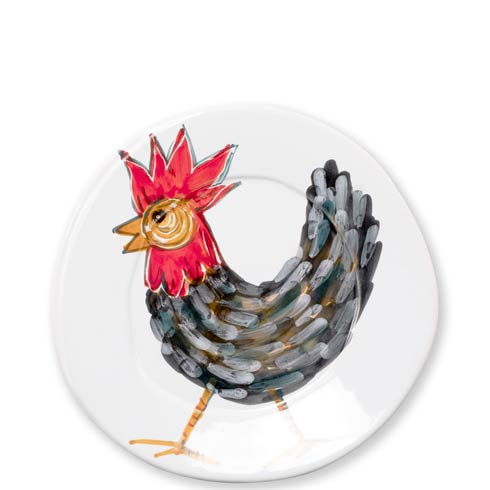 Vietri  Fortunata Rooster Fortunata Rooster Salad Plate $40.00