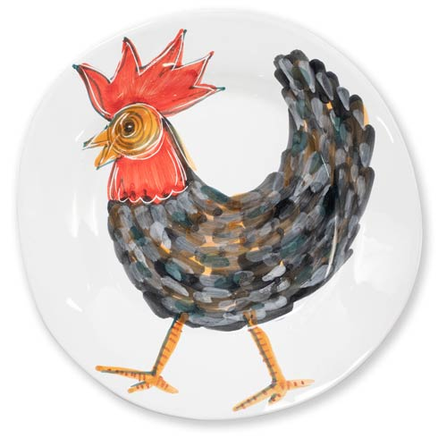 $104.00 Fortunata Rooster Large Shallow Bowl
