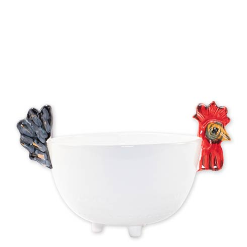 $169.00 Fortunata Rooster Figural Footed Deep Bowl