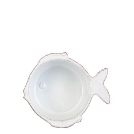 Vietri Lastra Fish White Condiment Bowl $23.00