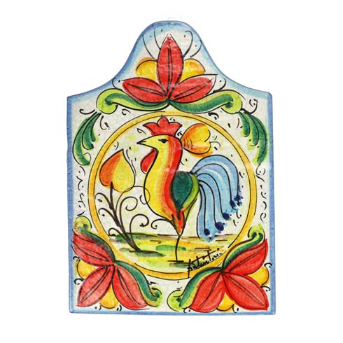 First Stones Rooster Wall Plaque