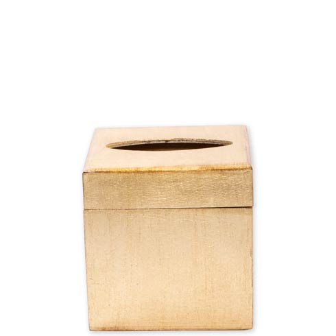 VIETRI  Florentine Wooden Accessories Gold Gold Tissue Box $99.00