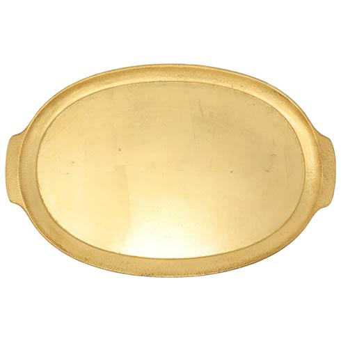 $114.00 Florentine Wooden Accessories Handled Medium Oval Tray