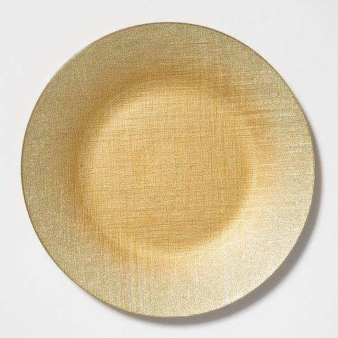 VIETRI  Glitter Glass Gold Service Plate/Charger $25.00