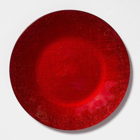 Vietri  Glitter Glass Red Service Plate/Charger $25.00