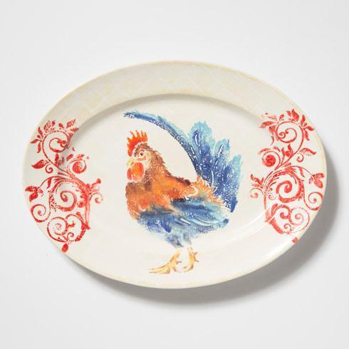 Rooster Medium Oval Platter image