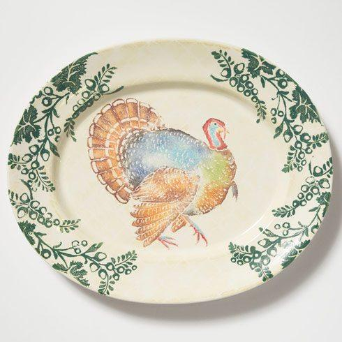 VIETRI  Gather Turkey Large Oval Platter $275.00