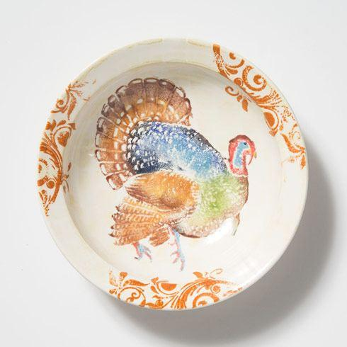 VIETRI  Gather Turkey Medium Bowl $110.00