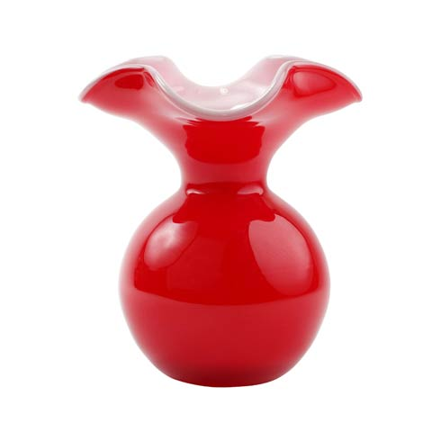 $99.00 Red Small Fluted Vase