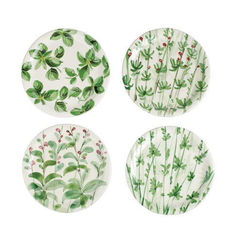 VIETRI  Erbe Assorted Salad Plates - Set of 4 $176.00