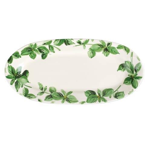 VIETRI  Erbe Basil Narrow Oval Platter $99.00