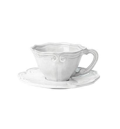 Vietri Incanto White Baroque Cup & Saucer $69.00