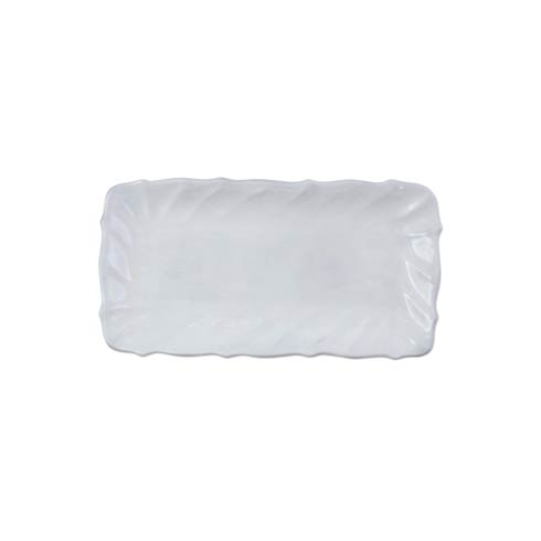 VIETRI Incanto White Ruffle Rectangular Tray $69.00