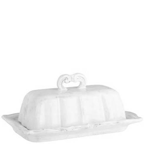Vietri Incanto White Baroque Butter Dish $103.00