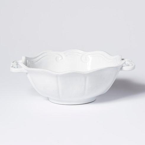 Vietri Incanto White Baroque Handled Bowl $118.00