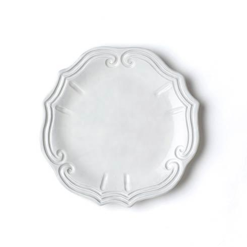 Vietri Incanto White Incanto Baroque European Dinner Plate $46.00