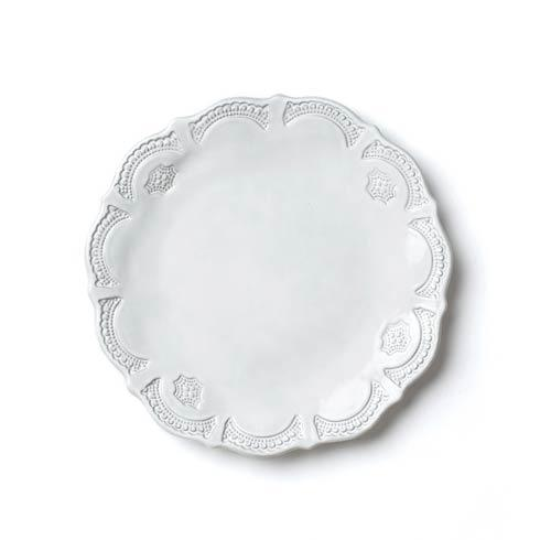 VIETRI Incanto White Lace European Dinner Plate $46.00