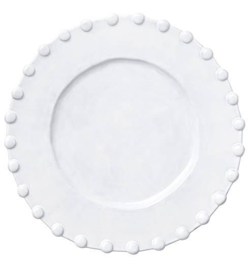 VIETRI Incanto White Pearl Border Service Plate/Charger $105.00