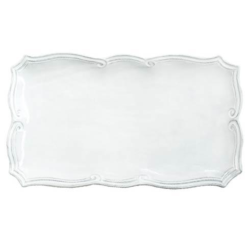 Vietri Incanto White Baroque Rectangular Platter $135.00