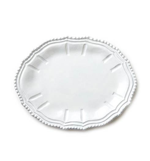 VIETRI Incanto White Baroque Small Oval Platter $78.00