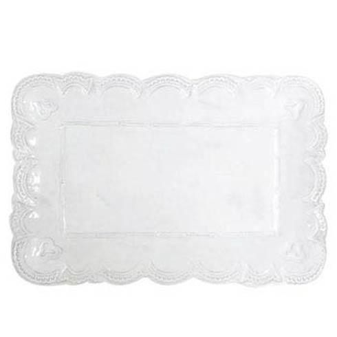 VIETRI Incanto White Lace Small Rectangular Platter $137.00
