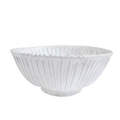 Vietri Incanto White Incanto Stripe Medium Serving Bowl $113.00