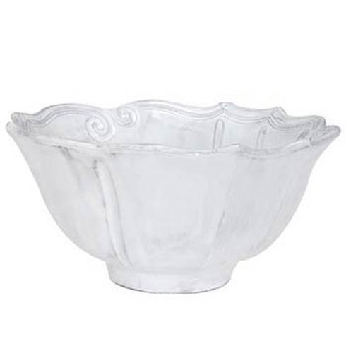 Vietri Incanto White Baroque Medium Serving Bowl $112.00