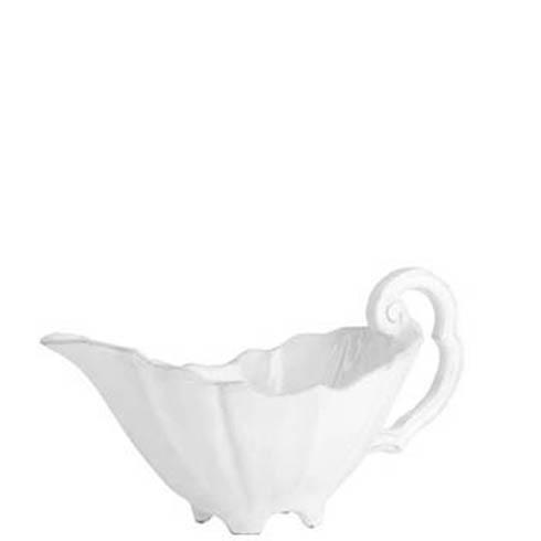 Vietri Incanto White Baroque Sauce Server $83.53