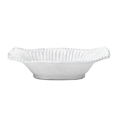 Vietri Incanto White Stripe Small Au Gratin Dish $51.00