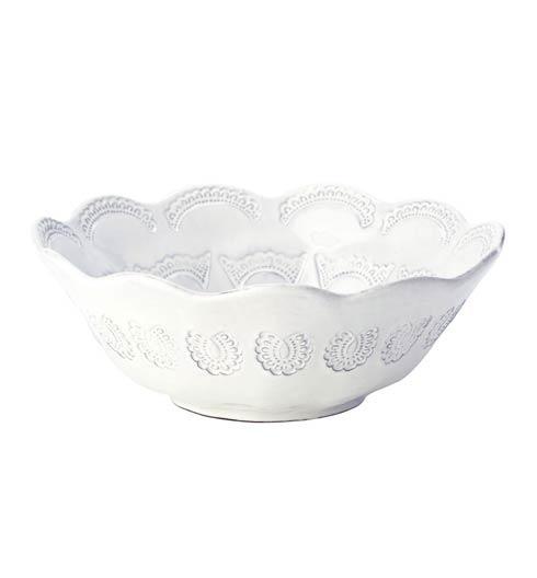 Vietri Incanto White Lace Round Bowl $130.00