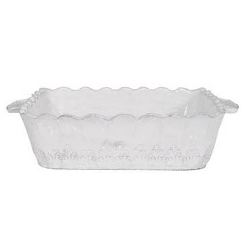 VIETRI Incanto White Lace Small Square Baking Dish $122.00