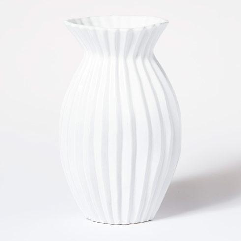 Vietri Incanto White Pleated Vase $136.00