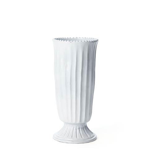 VIETRI Incanto White Stripe Footed Vase $178.00