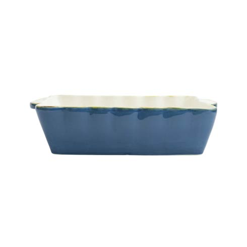 VIETRI  Italian Bakers Blue Medium Rectangular Baker $41.00
