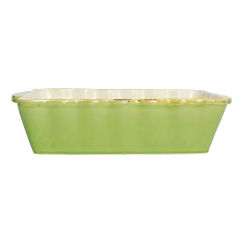 VIETRI  Italian Bakers Green Medium Rectangular Baker $41.00