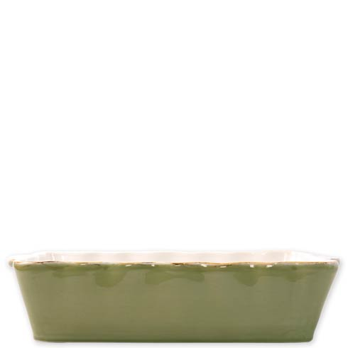 VIETRI  Italian Bakers Green Large Rectangular Baker $45.00