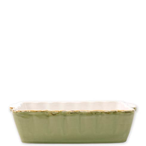 VIETRI  Italian Bakers Green Small Rectangular Baker $35.00