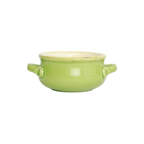 $35.00 Green Small Handled Round Baker