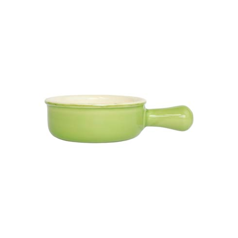 $35.00 Green Small Round Baker with Large Handle