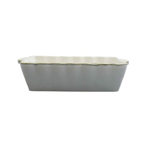 VIETRI  Italian Bakers Gray Medium Rectangular Baker $41.00