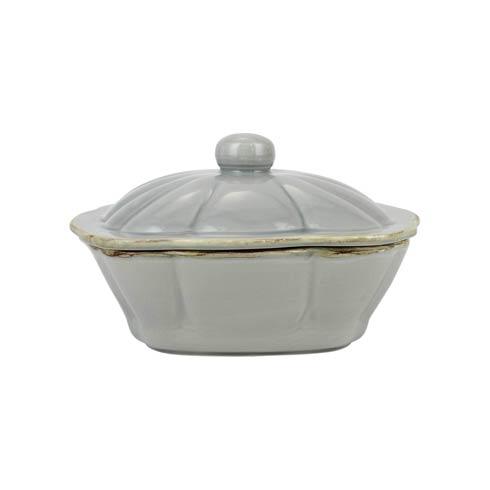 $68.00 Italian Bakers Gray Square Covered Casserole Dish