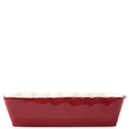 $45.00 Red Large Rectangular Baker