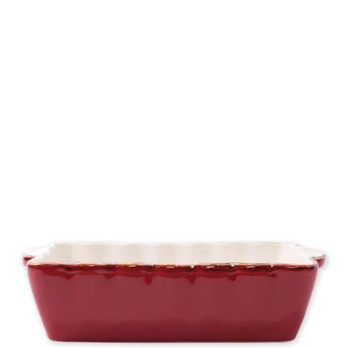 VIETRI  Italian Bakers Red Small Rectangular Baker $35.00