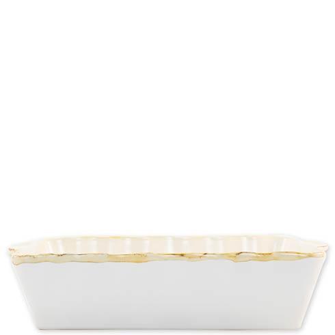 $44.00 White Large Rectangular Baker