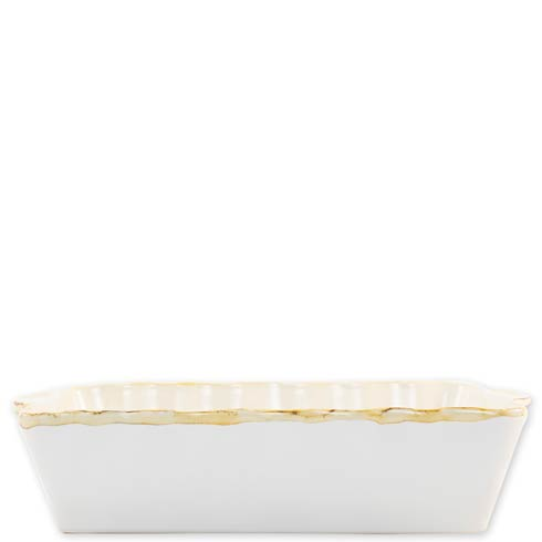 $45.00 White Large Rectangular Baker