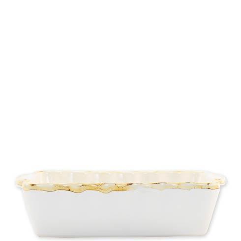 $34.00 White Small Rectangular Baker