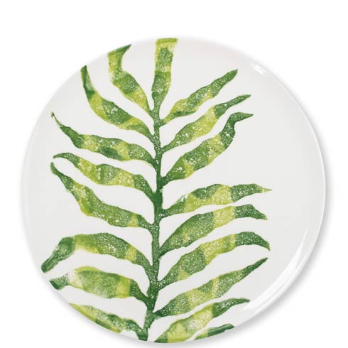 $40.00 Into the Jungle Arica Palm Leaf Dinner Plate