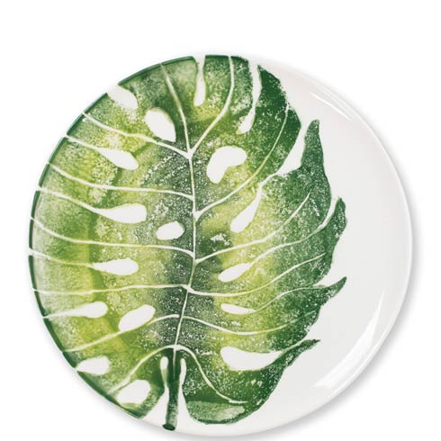 $40.00 Into the Jungle Monstera Leaf Dinner Plate